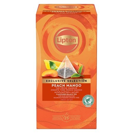 Lipton Maitsestatud must tee virsiku- ja mangotükkidega -