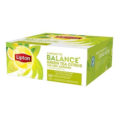 Lipton Maitsestatud roheline tee tsitruseliste koortega 100