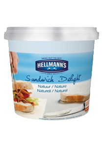 Hellmann's Sandwich Delight Määrdekreem 1,5 kg - Eriti lihtsalt määritav, kreemja struktuuri ja peene maitsega rõõsakoorejuust. Tänu oma kreemjale konsistentsile sobib ideaalselt juustukookide valmistamiseks.