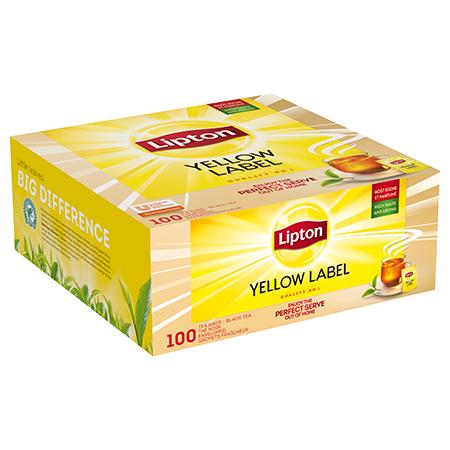 Lipton Yellow Label Must tee 100 - Lipton Yellow Label on populaarseim tee maailmas juba aastast 1890.