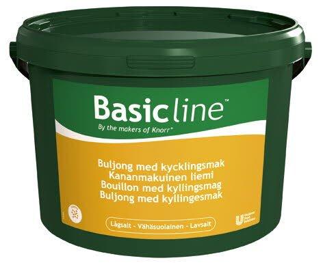 Basic Line Kananmakuinen liemi, vähäsuolainen 5kg/1000L