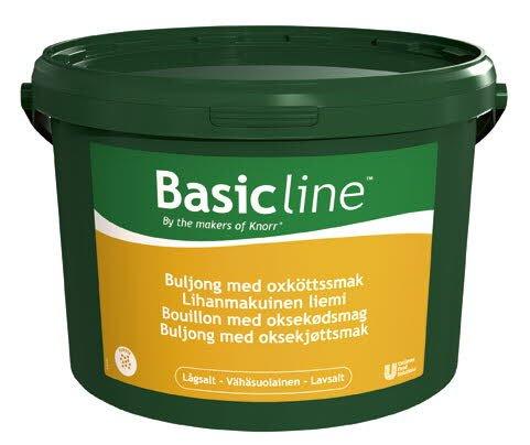 Basic Line Lihanmakuinen liemi, vähäsuolainen 5kg/1000L