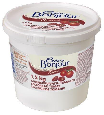 Crème Bonjour Aurinkokuivattu Tomaatti Laktoositon tuorejuusto 1,5 kg