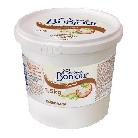 Crème Bonjour Carbonara Laktoositon tuorejuusto 1,5 kg
