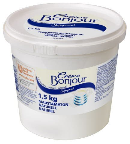 Crème Bonjour Naturel Laktoositon tuorejuusto 1,5 kg