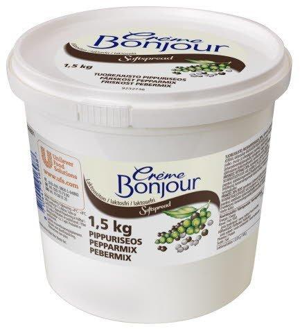 Crème Bonjour Pippuriseos Laktoositon tuorejuusto 1,5 kg