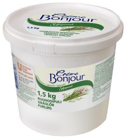 Crème Bonjour Ruohosipuli Laktoositon tuorejuusto 1,5 kg