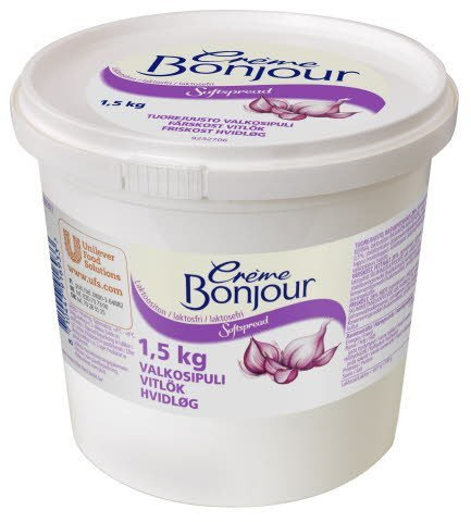 Crème Bonjour Valkosipuli Laktoositon tuorejuusto 1,5 kg