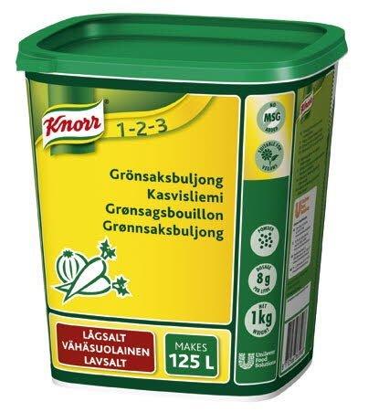 KNORR Kasvisliemi, vähäsuolainen 1kg/125L