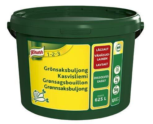 KNORR Kasvisliemi, vähäsuolainen 5kg/625L