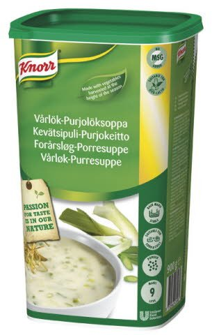 KNORR Kevätsipuli-purjokeitto 0,9 kg / 9 L
