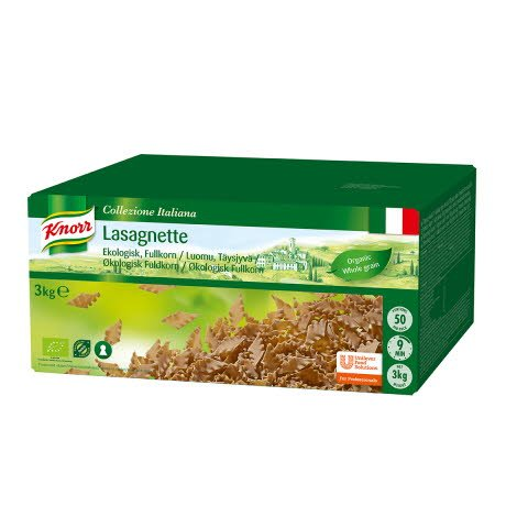 KNORR Lasagnette Täysjyvä Luomu 3 kg