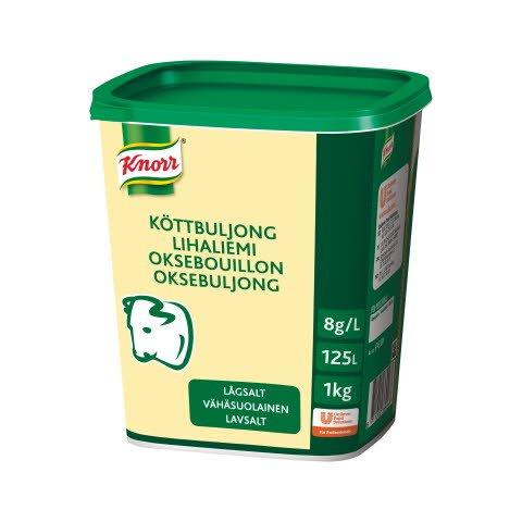 Knorr Lihaliemi vähäsuolainen 1 kg / 125 L