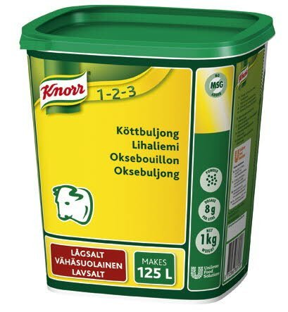 KNORR Lihaliemi, vähäsuolainen 1kg/125L