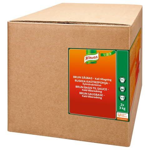 KNORR Ruskea kastikepohja, kylmävalmistus 6kg/92 L -