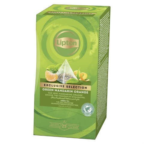 Lipton Pyramid Green Tea Mandarin Orange 6 x  25 pss