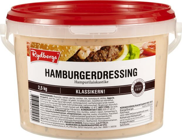 Rydbergs Hampurilaiskastike 2,5kg