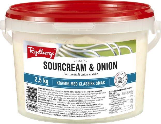 Rydbergs Sourcream & onion -kastike 2,5 kg