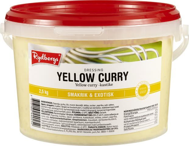 Rydbergs Yellow curry-kastike 2,5kg -