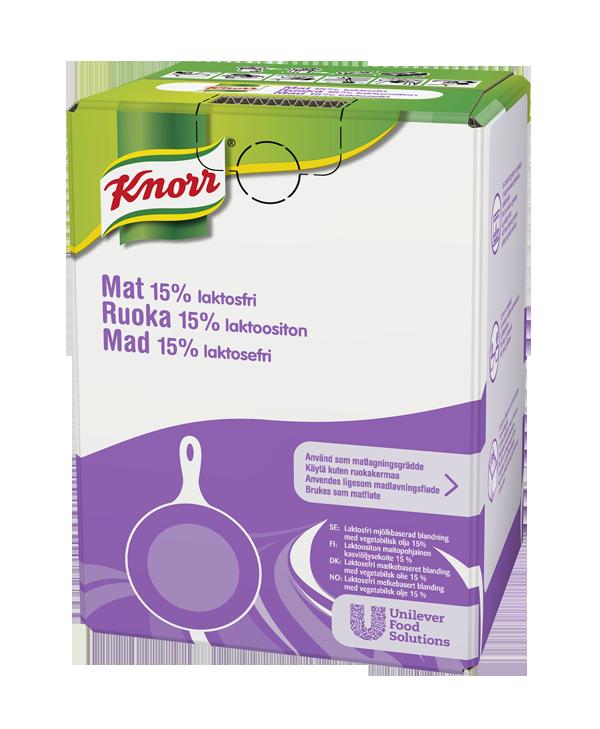 Knorr Ruoka Laktoositon 15% 10L - Knorr Ruoka 15% säilyttää aina rakenteensa kaikissa lämpimissä ruuissa