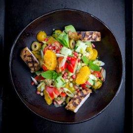 Grillattua kananpoikaa Baharat ja taboulleh-salaattia, Lähi-itä