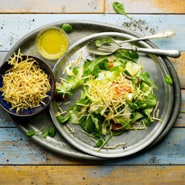 Salada de Crocante, Vihreää salaattia ja rapeaa perunaa