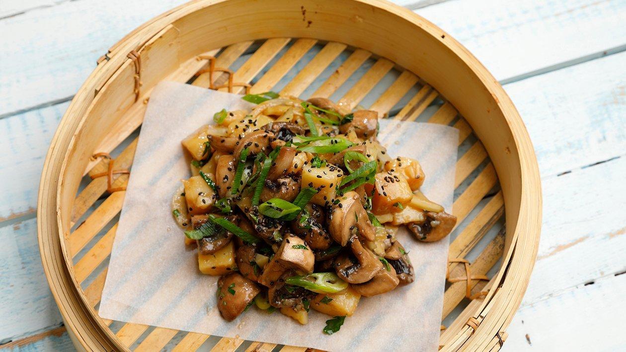 Aasialainen sieni-perunasalaatti – Resepti