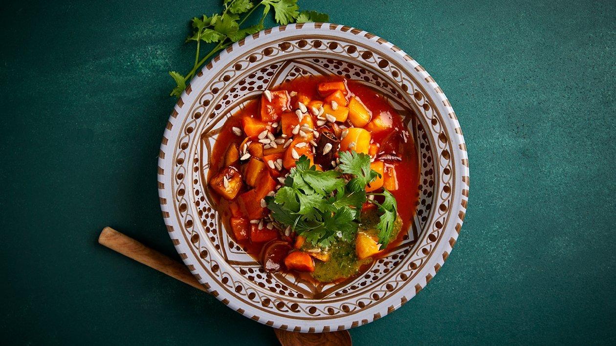 Chermoula-juurespata – Resepti