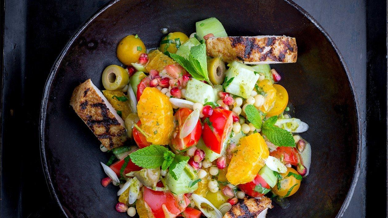 Grillattua kananpoikaa Baharat ja taboulleh-salaattia, Lähi-itä – Resepti