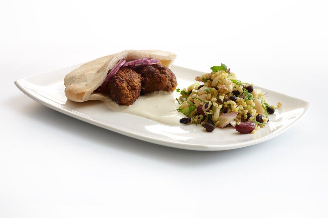 Jauhelihakebakko ja papusalaatti, Ilmastoreilua ruokaa – Resepti