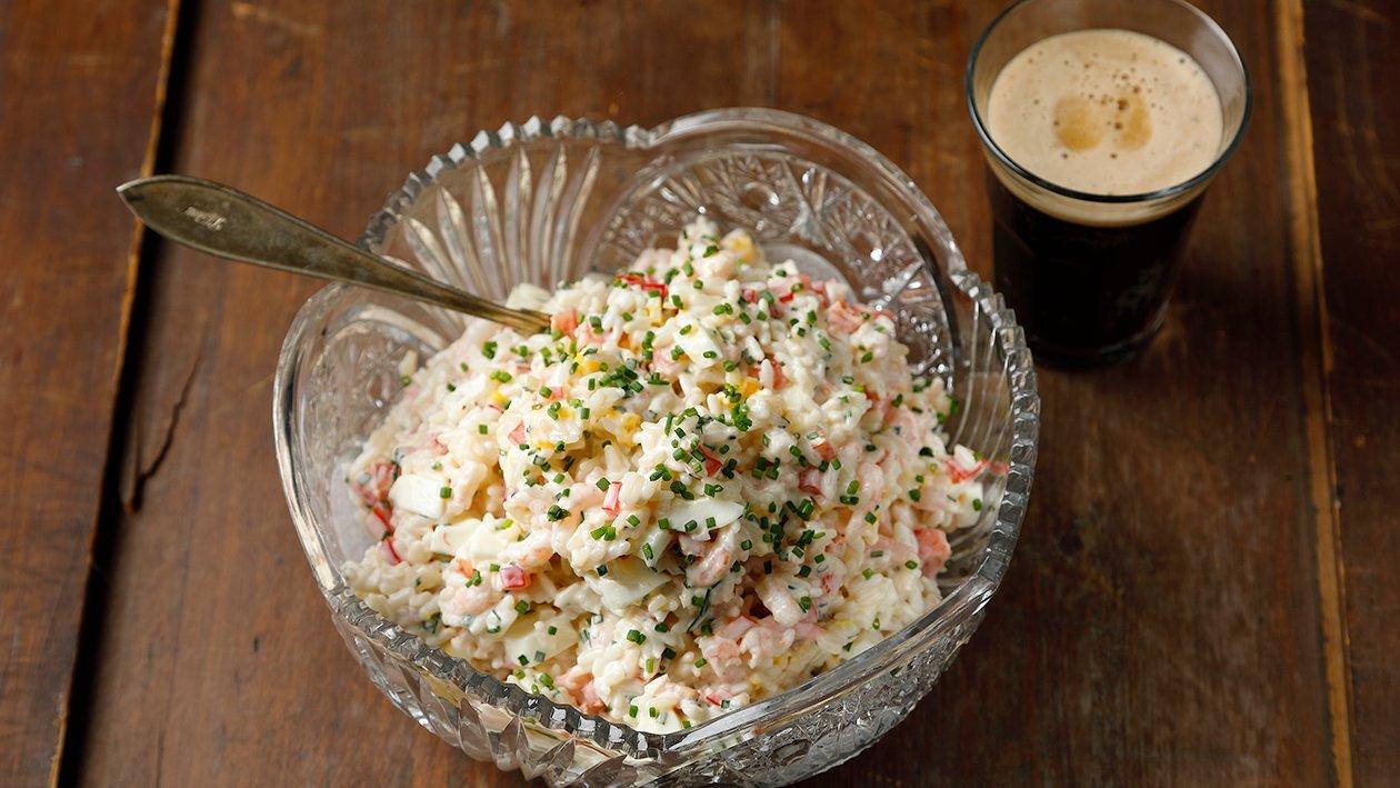 Katkarapu-riisisalaatti – Resepti