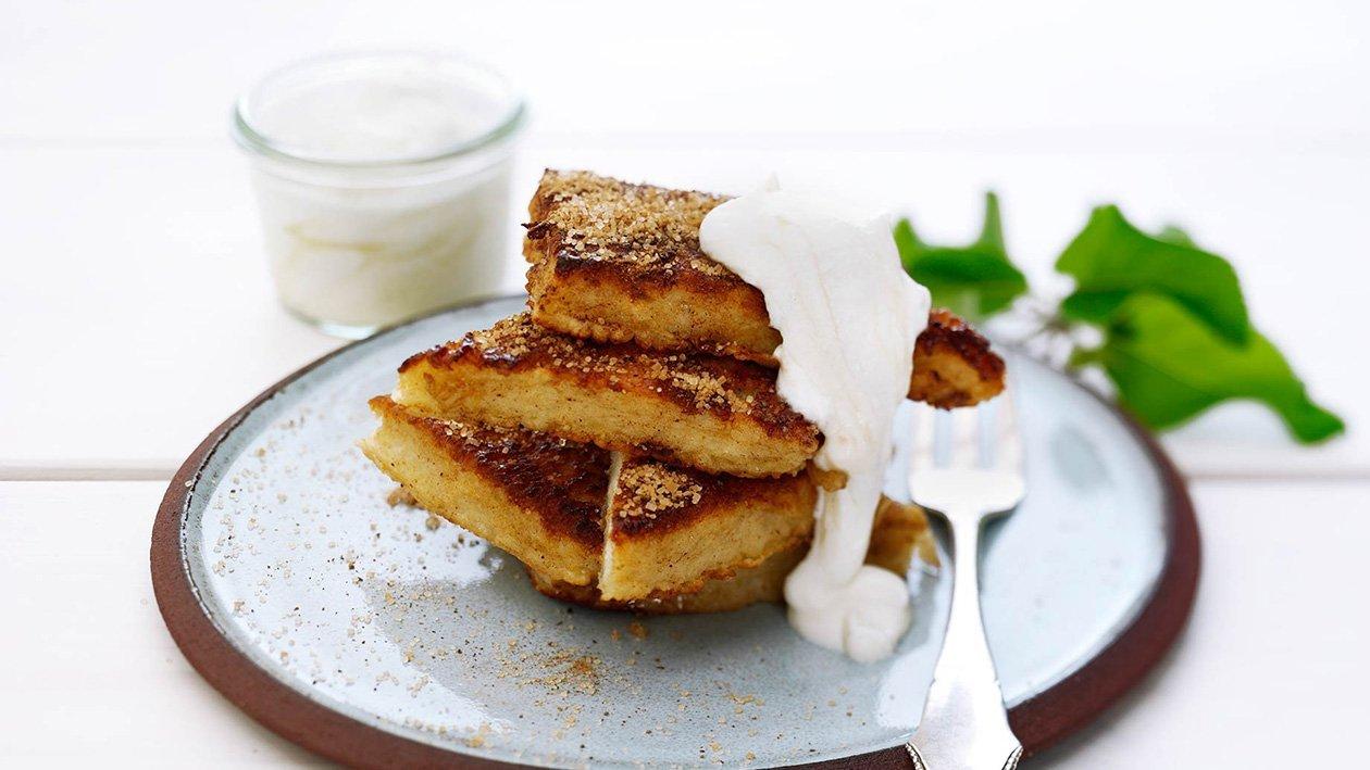 Köyhät ritarit ja omena-päärynärahka – Resepti