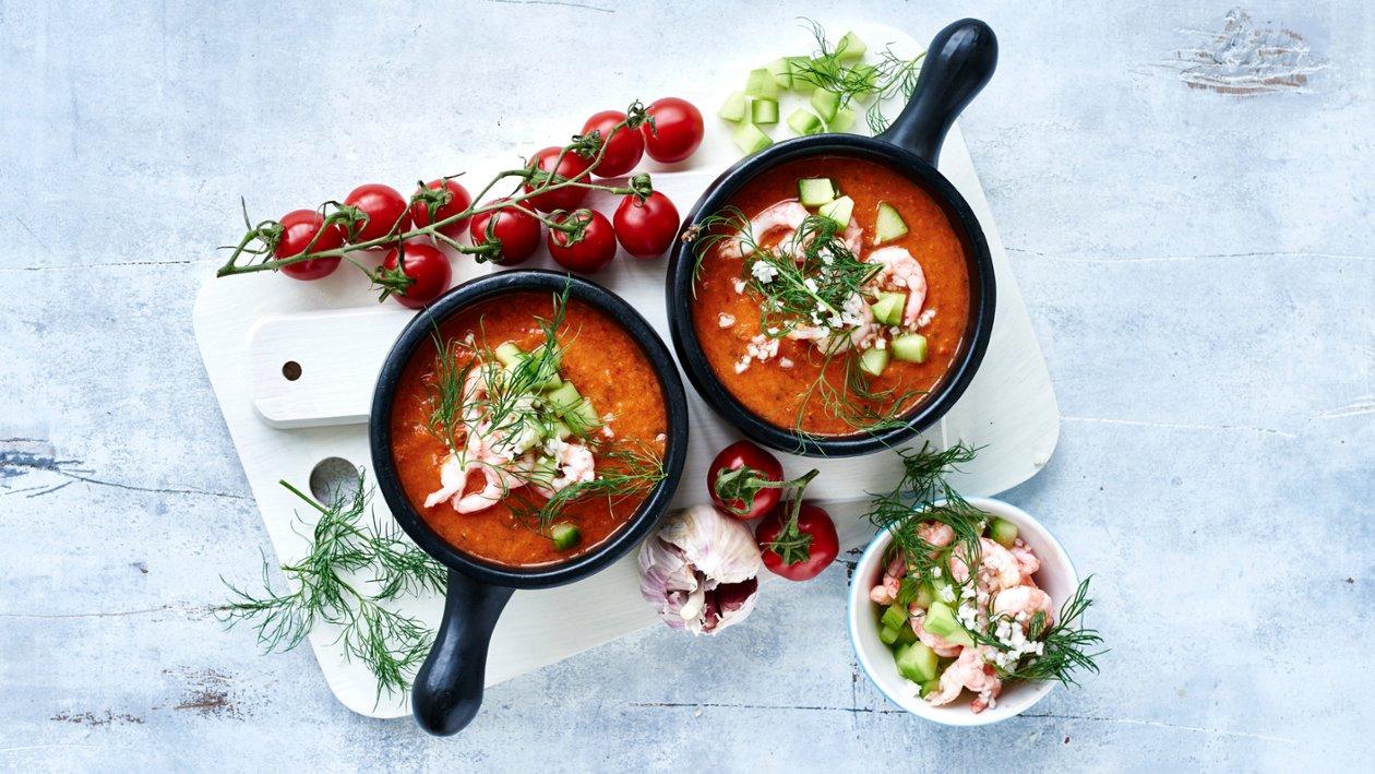Kylmä tomaattikeitto – Resepti