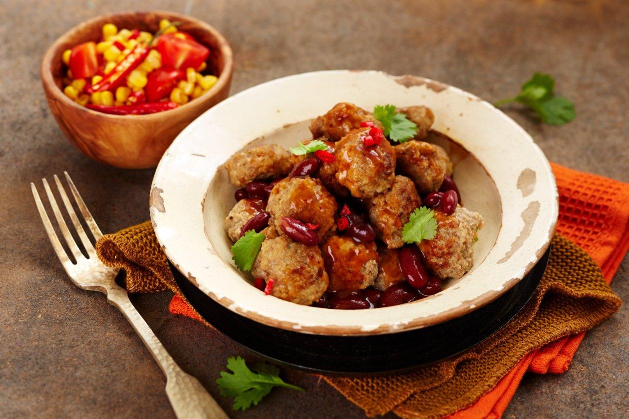 Lihapullat chili con carnen tapaan, Meksiko_Kylmävalmistus – Resepti