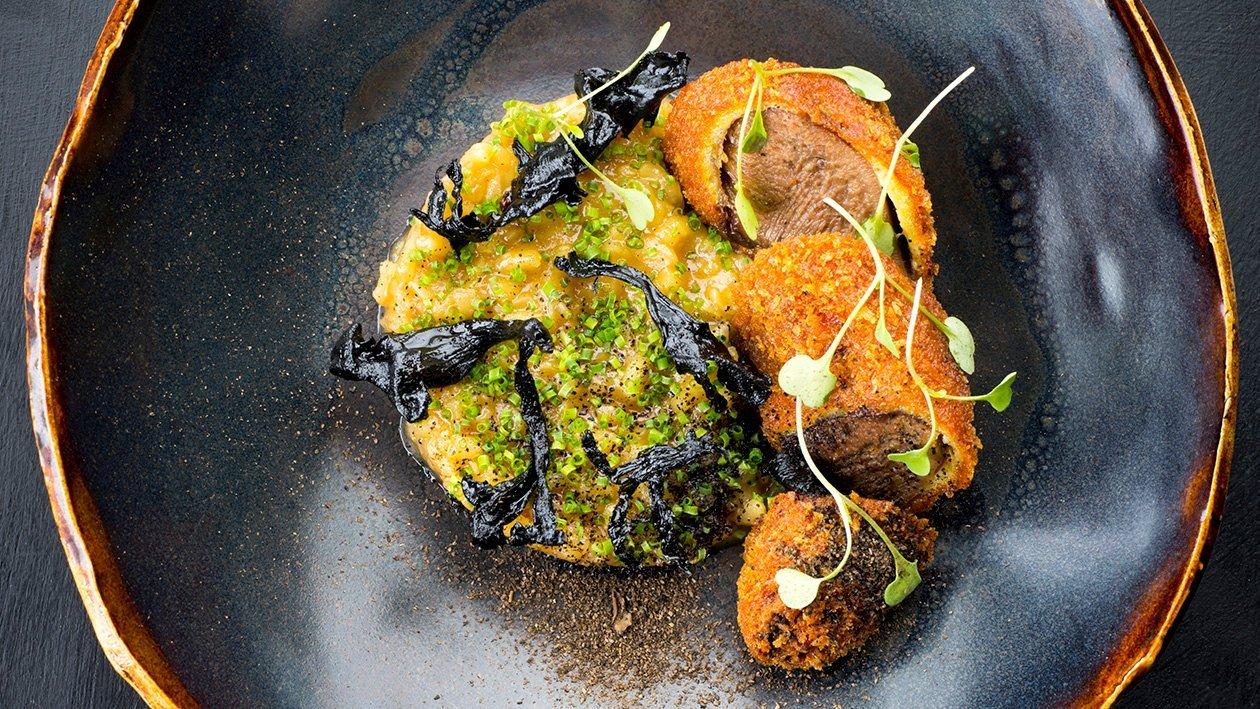 Parmesaanirisottoa ja rapeaksi paistettua kieltä – Resepti