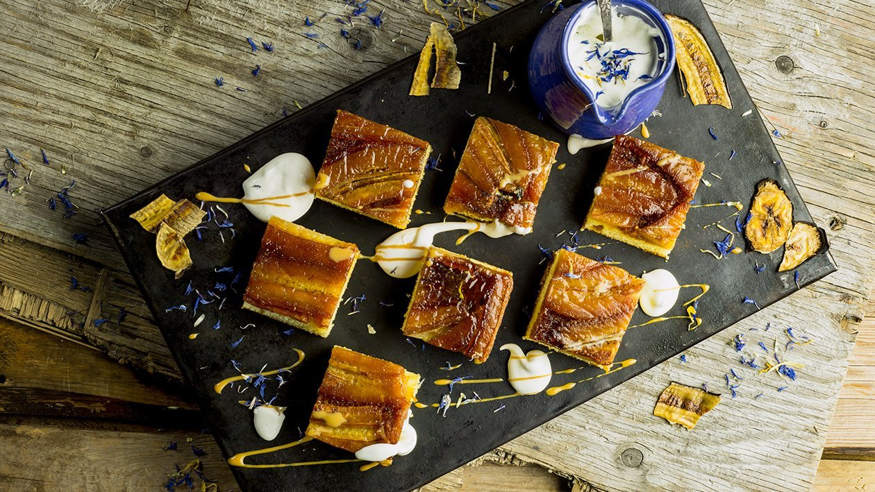 Torta de banana - karamellisoitu banaanipiiras – Resepti