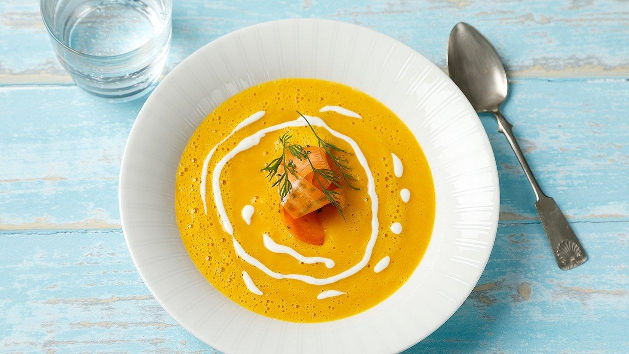 Tuorejuusto-porkkanakeitto – Resepti