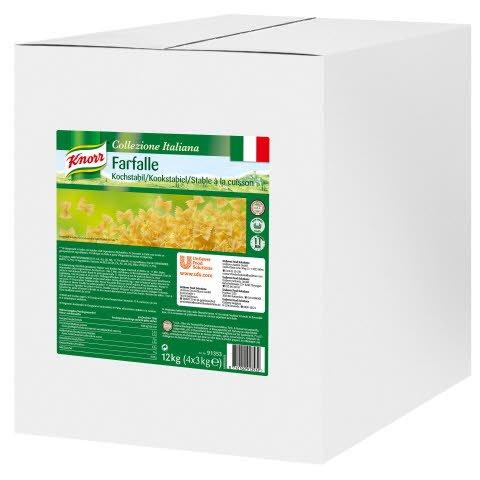 Knorr Collezione Italiana pâtes Farfalle 4 x 3 kg