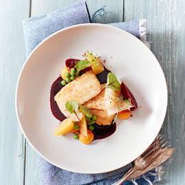 Barbue aux betteraves et patates douces