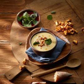 Crème aux champignons des bois magret de canard & épices d´hiver