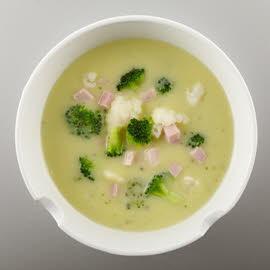 Crème de chou-fleur broccoli