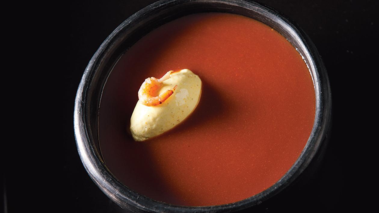 Bisque de crevettes au curry – Recette