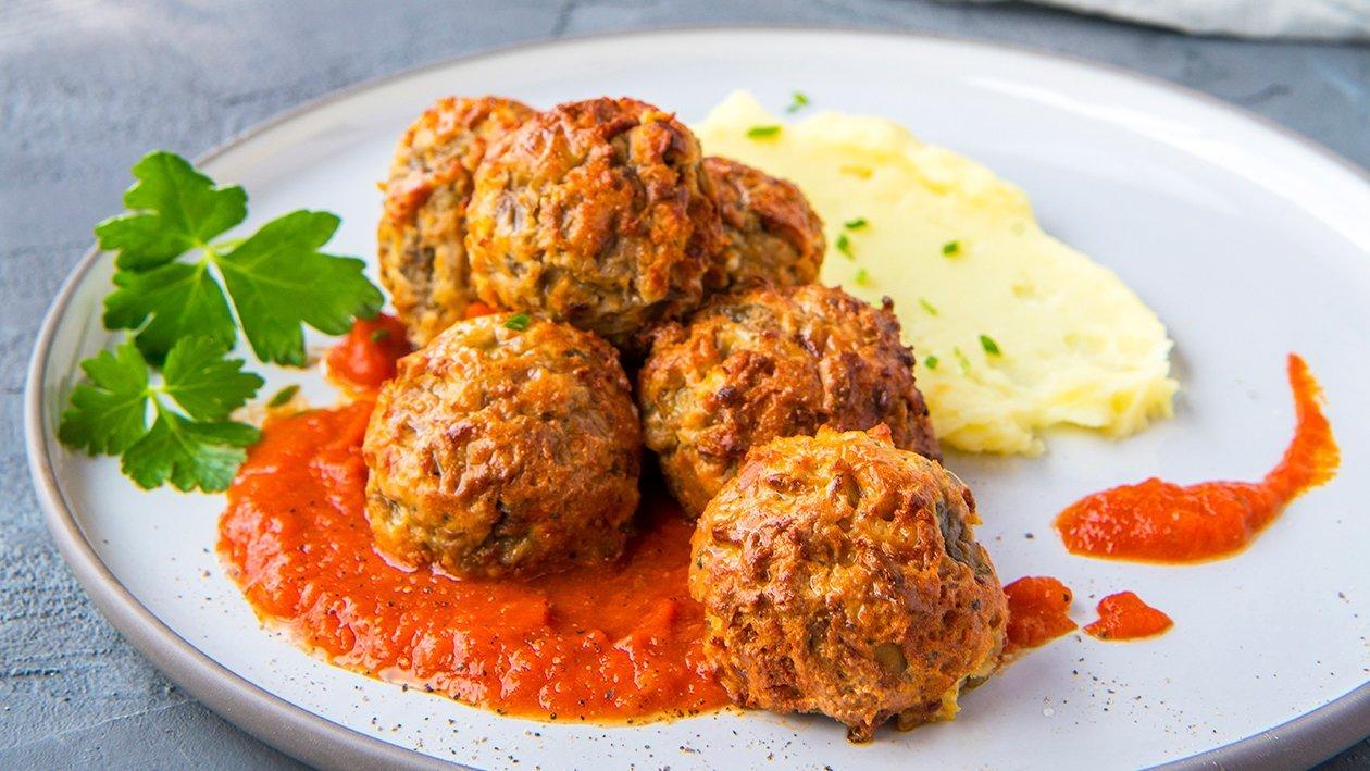 Boulettes végétariennes à la sauce tomate – Recette