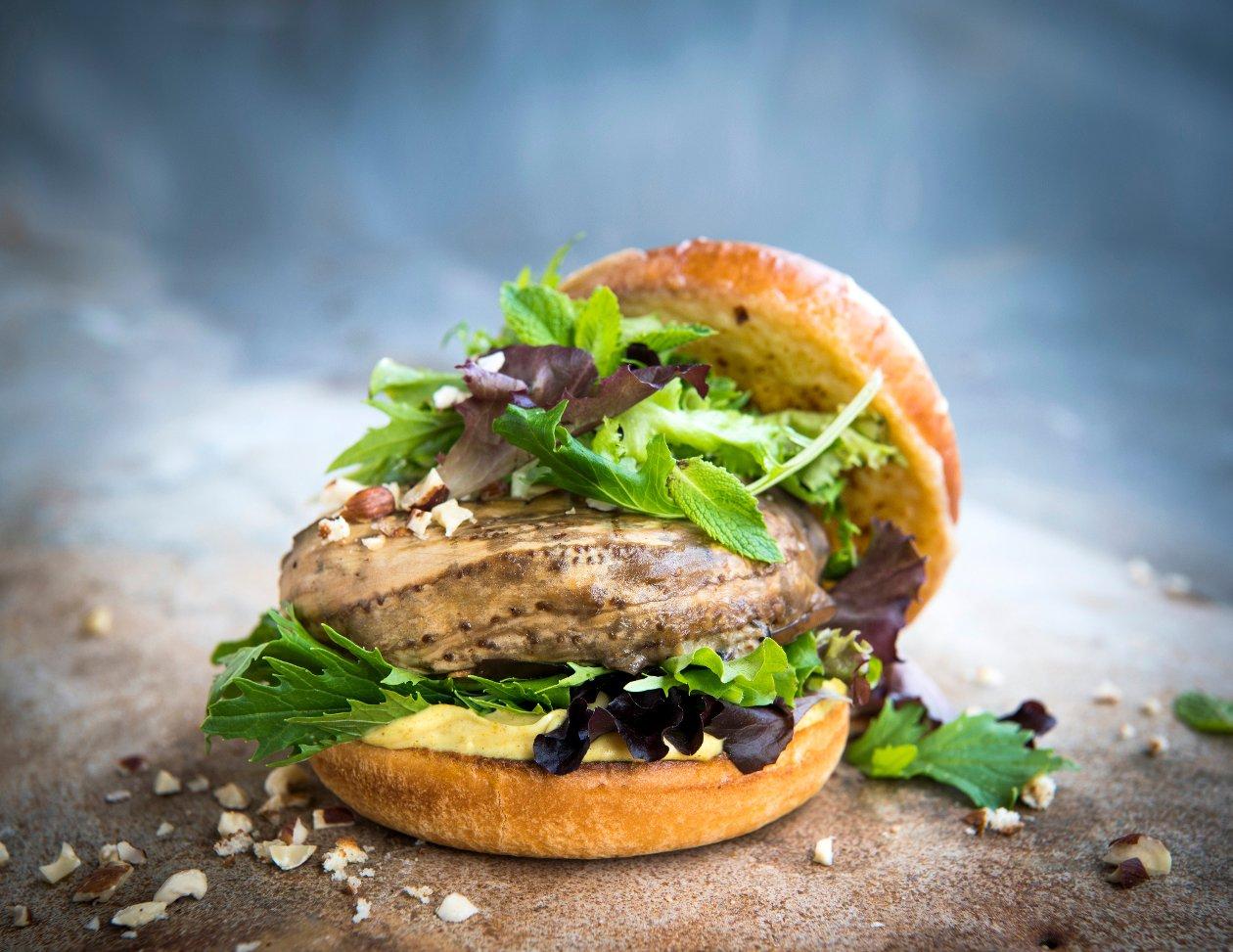 Burger à l'aubergine et aux épices Ras el hanout – Recette
