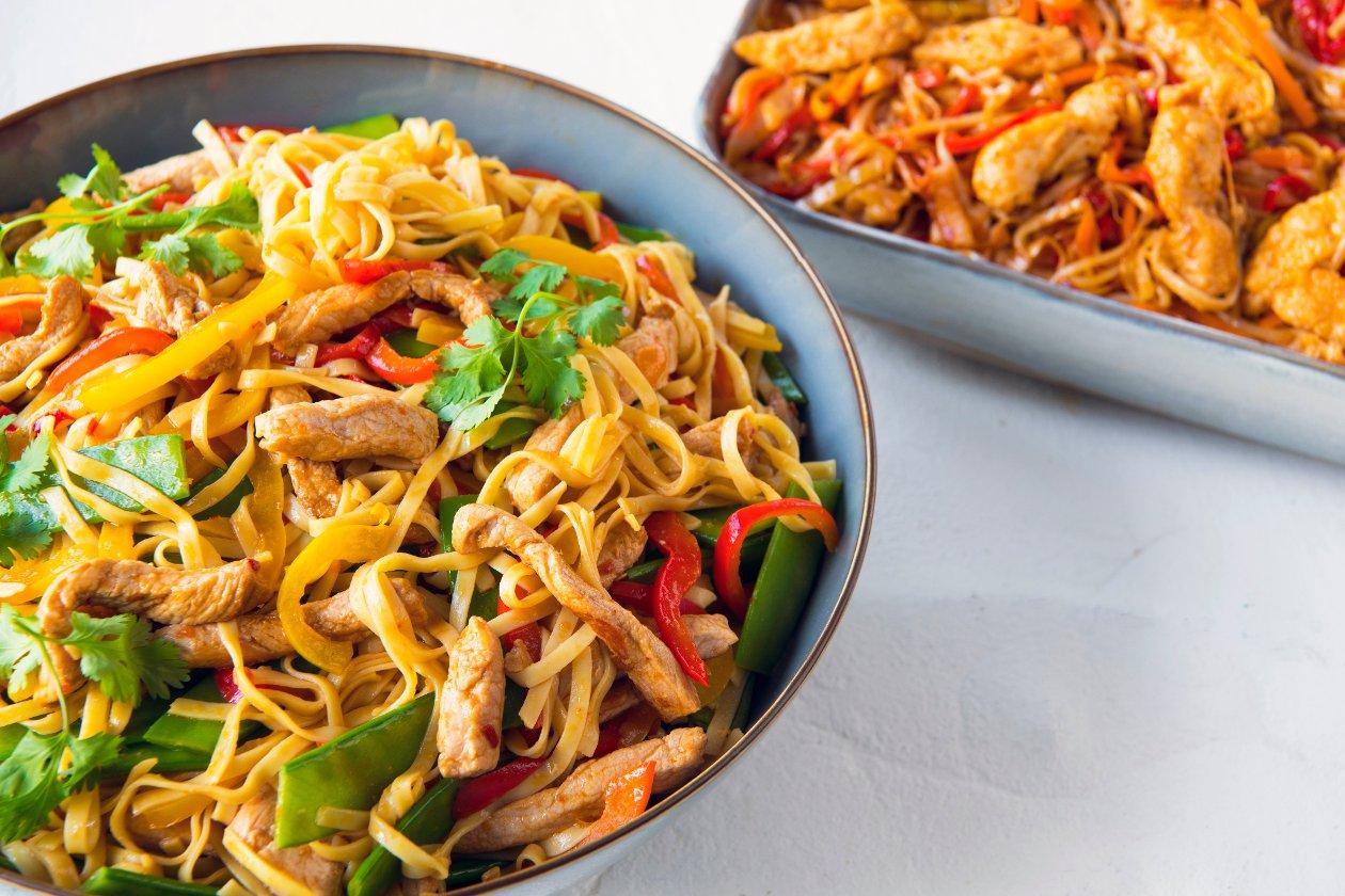 Chef Traiteur - Lanières de porc lo mein à la chinoise – Recette