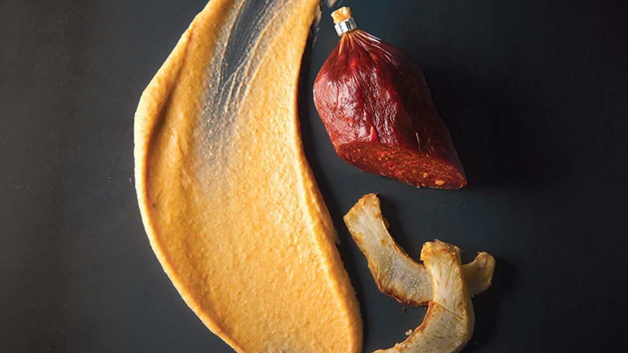 Crème de chorizo et purée d'artichauts – Recette