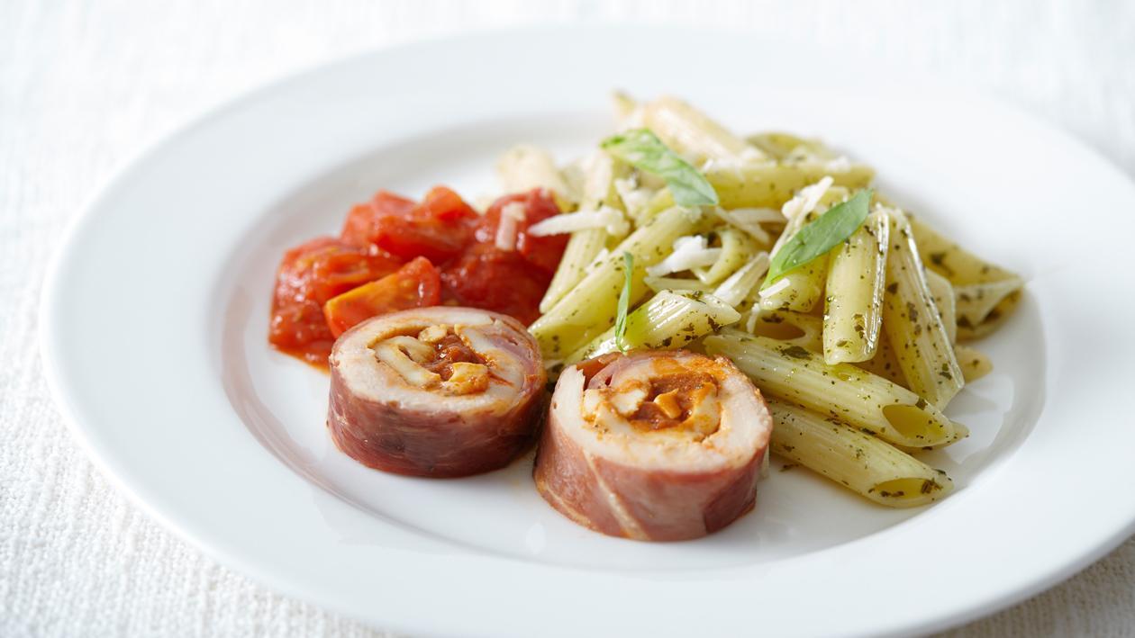 Filet de poulet à l'italienne et penne – Recette