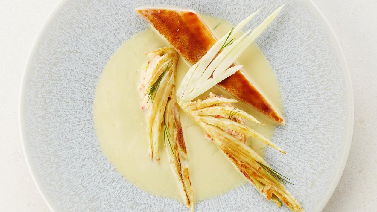 Grodin perlon laqué et fenouil – Recette