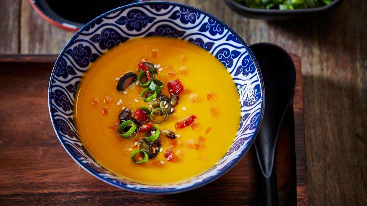 Japonnaise soupe au potiron avec sauce soja & beurre – Recette