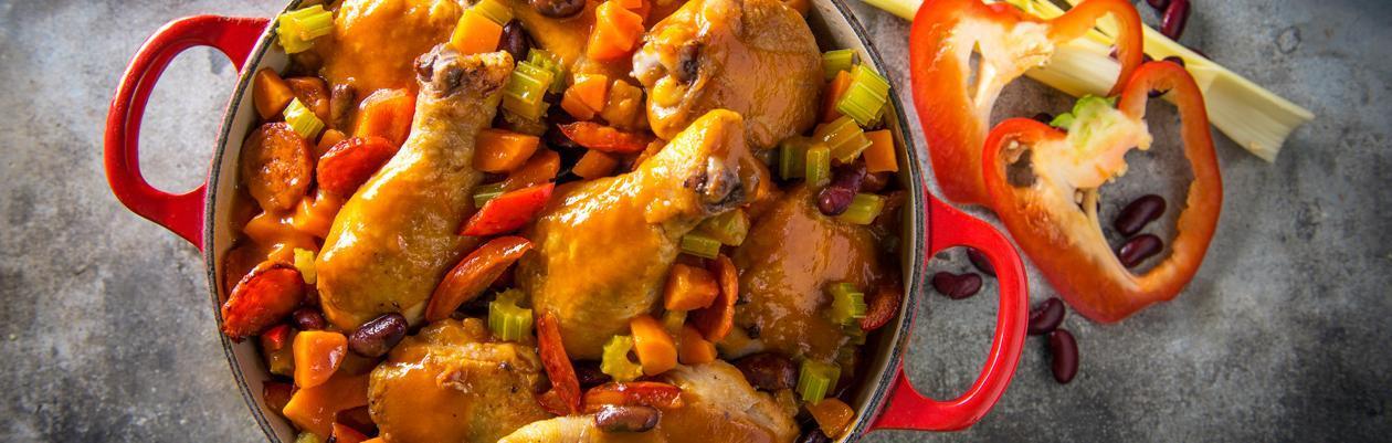 Mijoté de poulet à l'espagnole – Recette